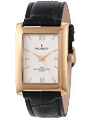 Peugeot Rectangle Mens Everyday Leather Band Luxury Dress Business Watch 2033