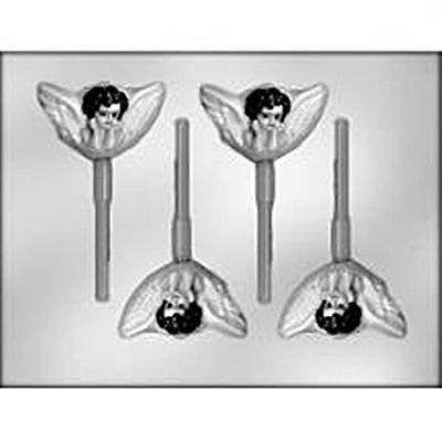 Cherub Lollypop Sucker Chocolate Candy Mold Angel Mystic Winged baby Christian