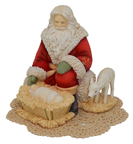 Heart of Christmas Holiday Figurine with Westbraid Doily (Silent Night, Holy Night)