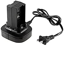 Honsdom Dual Battery Charger Charging Station Kit Compatible With Xbox360 ,Black