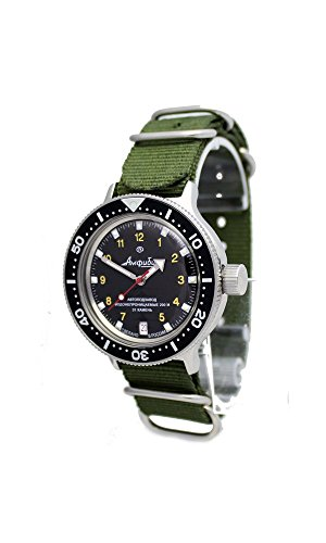 - AMPHIBIA 200m VOSTOK AUTOMATIC MECHANICAL WATCH WITH CUSTOM BEZEL! NEW! 2416/420270 (green)