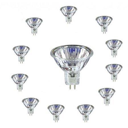 SleekLighting MR16, 20 Watt, Halogen 12V, Light Bulb Spotlight, Recessed, Track Lighting. 2700K (12 Pack)