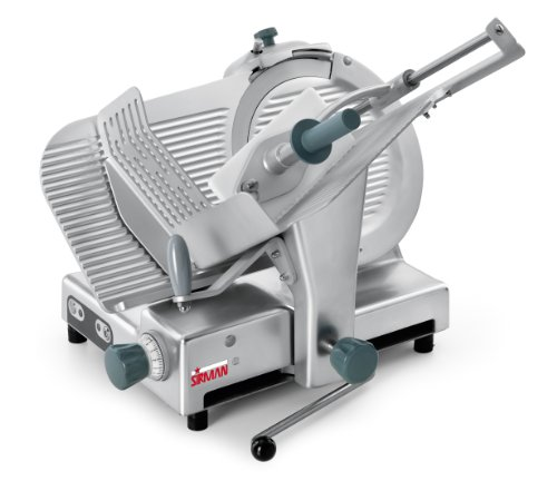 (Sirman 153345G28S Palladio 330 EVO with Lift Lever, Commercial Heavy Duty Food Slicer)