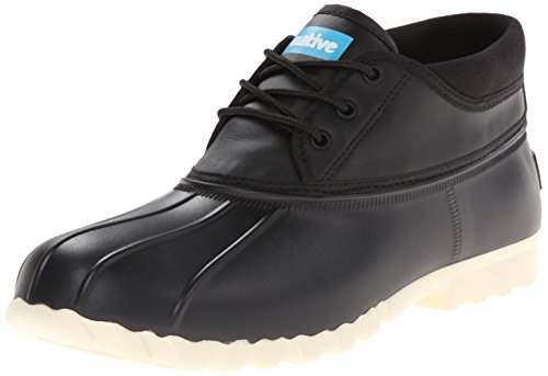 Native Men's Jimmy Mid Rain Shoe, Jiffy Black, 8 M US