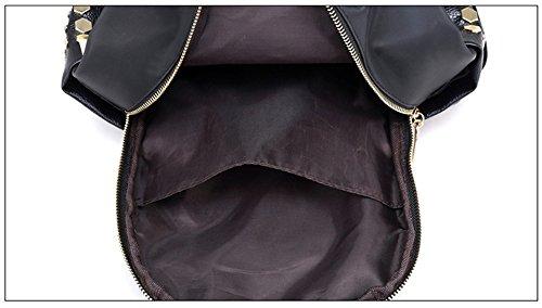 Forme el morral, bolso de hombro ocasional del paño de Oxford, versión coreana de los bolsos de la momia, paquete salvaje ( Color : Green+red ) Red+white