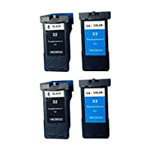 Superb Choice® Remanufactured Ink Cartridge for Lexmark ILX32/33 (Black/Tri-Color) use in Lexmark X5250 Printer - Pack of 2 sets