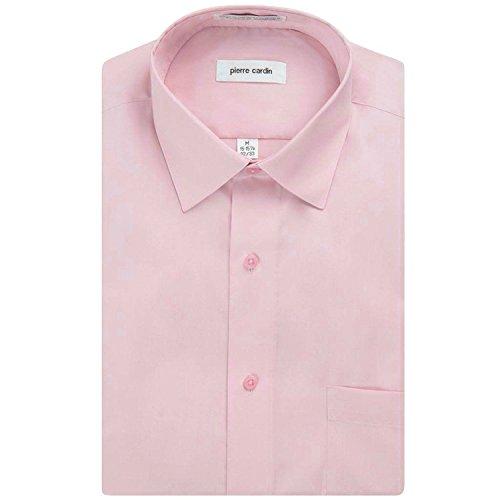 Pierre+Cardin+Men%27s+Regular+Fit+Long+Sleeve+Solid+Dress+Shirt+-+Pink+%2815-15%2C5+Neck+32-33+Sleeve%2C+Pink%29