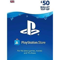 PlayStation PSN Card 50 GBP Wallet Top Up | PSN Download Code – UK account