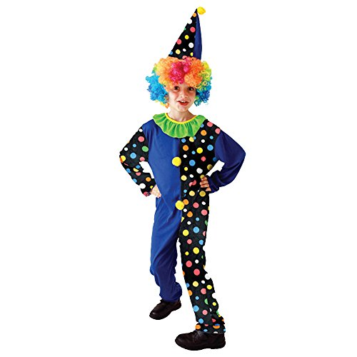 Cute Hallowean Party Cosplay Clowns Polka Dot Costumes for Children Kids Boy (L)]()