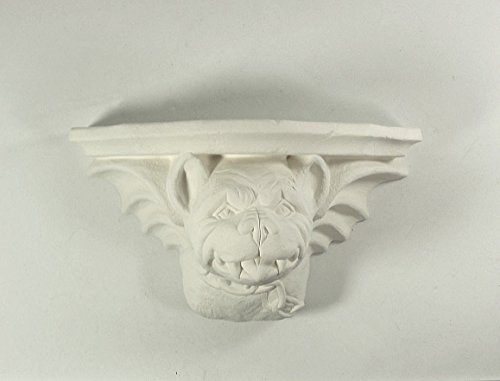 Ceramic Bisque Bull Dog Gargoyle Shelf U Paint