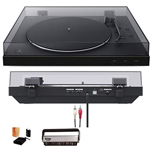 Sony PS-LX310BT Wireless Turntable with Bluetooth Connectivity Bundle (Includes Vinyl Record Cleaning Kit & Vinyl Brush Cleaner) (Record Player Sony)