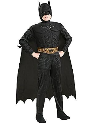 Batman Dark Knight Deluxe Muscle Chest Batman Child Costume- Black