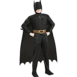 Batman Dark Knight Rises Child's Deluxe Muscle Chest Batman Costume with Mask, Small
