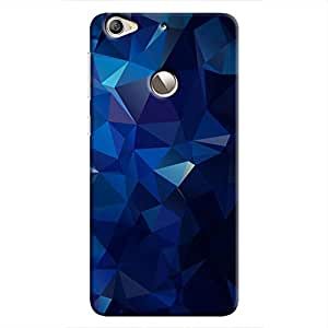 Cover It Up - Dark Blue Pixel Triangles LeEco Le 1s Hard Case