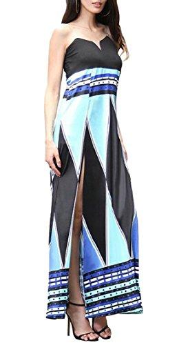 Bohemian Sleeveless Beach Women V Dresses Neck 8 Fit Fashion Floral Print Slim Jaycargogo zBF4qq
