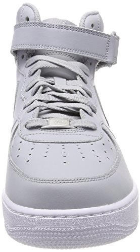 Mid Grey 046 Grey Wolf Wolf Sneaker White '07 Uomo Force Grigio Alto Nike Collo Air 1 a qTxt6Owa7F