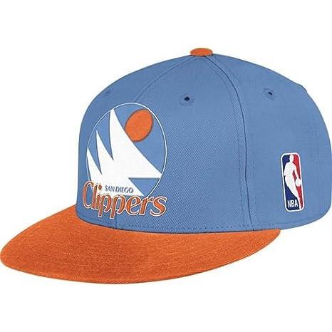 9ef7d2ddd053c Amazon.com : Mitchell & Ness San Diego Clippers XL Logo 2 Tone Snapback  Blue and Orange Hat : Sports Fan Baseball Caps : Sports & Outdoors