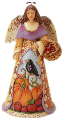 Enesco Jim Shore Heartwood Creek Autumn Angel with Crow Figurine