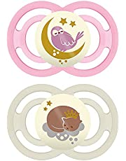MAM Perfect Night Pacifiers, Glow in the Dark Pacifiers MAM Pacifiers 16 Plus Months, Best Pacifier for Breastfed Babies, Baby Boy Pacifier