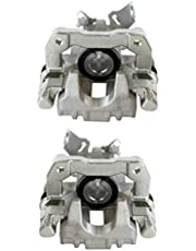 AutoShack BC29992PR Pair Set of 2 Rear Driver and Passenger Side Disc Brake Caliper Assembly Replacement for 2000-2010 Volkswagen Beetle 2000-2006 Golf 2007-2008 Golf City 2000-2006 Audi TT AWD FWD