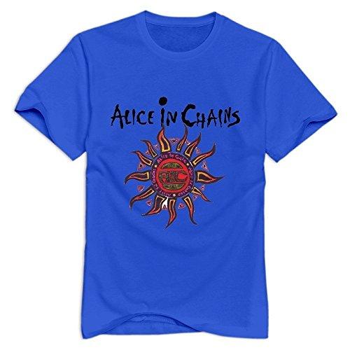 TWSY Men's Alice In Chains T-Shirt RoyalBlue US Size M,100% (Alice In Chains Halloween Shirt)
