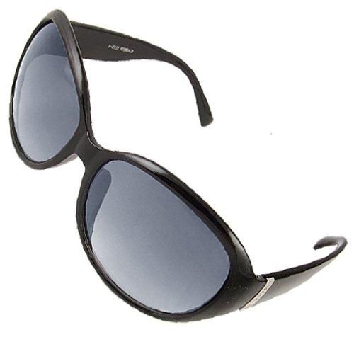 Black Full Frame Gradient Tinted Lens Sunglasses for Lady
