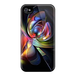 Tpu Case For Iphone 4/4s With Abstract 99