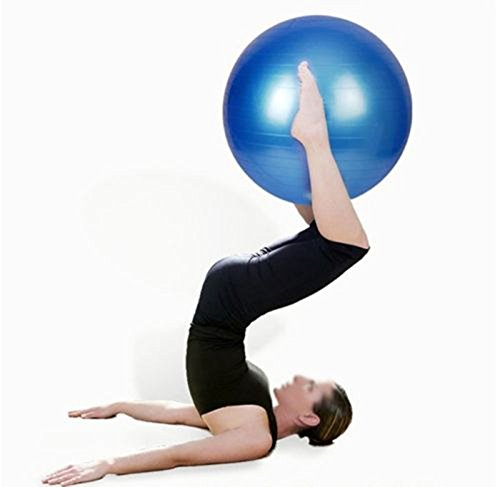 edealing(TM) 1 PCS 65cm Blue Balance Stability Anti Burst Ball for Yoga Fitness& Exercise Ball
