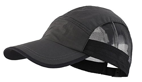 LLmoway Boys Outdoor UPF50+ Breathable Baseball Cap Run Hat Cycling Visor Cap Adjustable Dark Grey