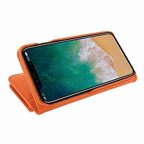 Piel Frama 793 Orange WalletMagnum Leather Case for Apple iPhone X by Piel Frama (Image #5)