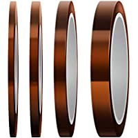 Bopfimer 4 Pcs Heat Resistant Tape High Temp Tape Sublimation TapeThermal Tape for Sublimating Print Heat Transfer and…
