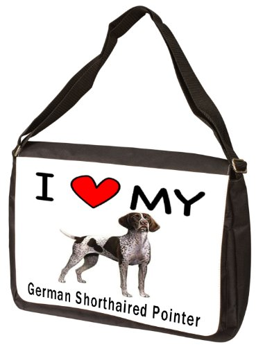 I Love My German Shorthaired Pointer Laptop Bag - Shoulder Bag - Messenger Bag by MyHeritageWear.com