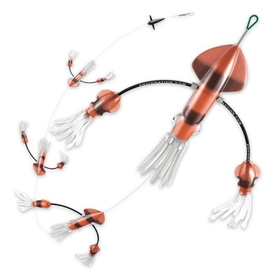 Squidnation Flippy Floppy Thing Fishing Daisy Chain Tuna & Marlin Magnet (Natural & Natural)
