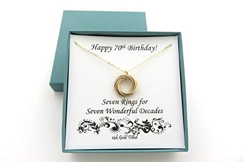 14k Gold Filled Bow - 70th Birthday Gifts | 14k Gold Filled Necklace
