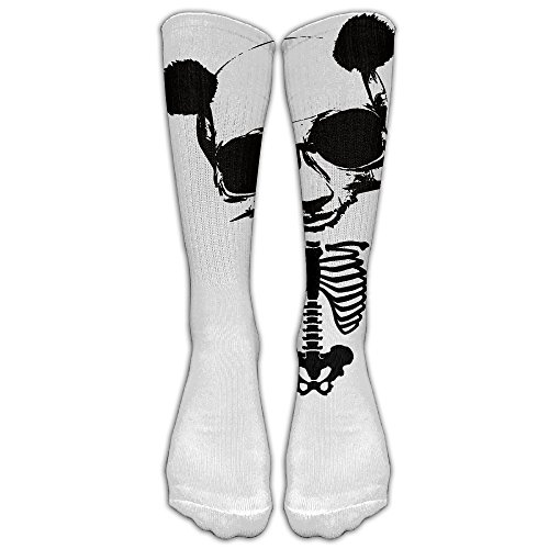 Unisex Knee High Long SocksDay Of Dead PANDA SkullSchool Uniform High Long StockingsKnee High Stockings