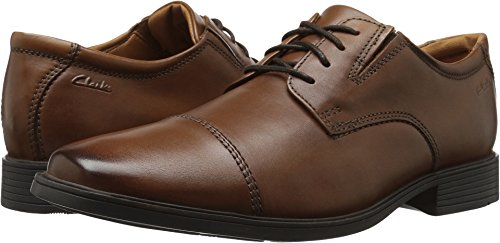 Clarks Men's Tilden Cap Oxford Shoe,Dark Tan Leather,15 M US