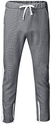 ファッションメンズカジュアルプリントドローストリング弾性ウエストロングパンツパンツ