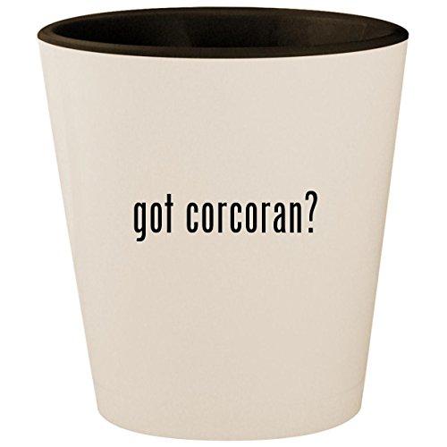 got corcoran? - White Outer & Black Inner Ceramic 1.5oz Shot Glass -