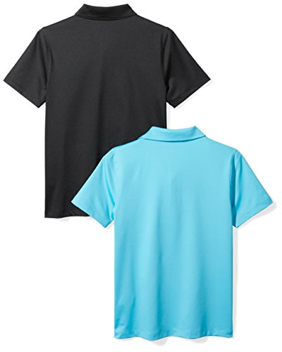 Amazon Essentials Boys' 2-Pack Performance Polo, Canyon Blue/Black, M (8) by Amazon Essentials (Image #3)