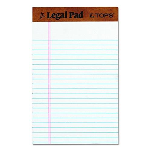 TOPS The Legal Pad Legal Pad, 12 Pads per Pack