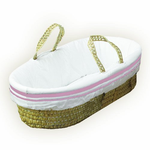 Pink BabyDoll Hotel Style II Moses Basket Set