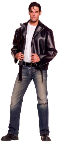 Underwraps Costumes Men's Plus-Size Greaser, Black, XX-Large