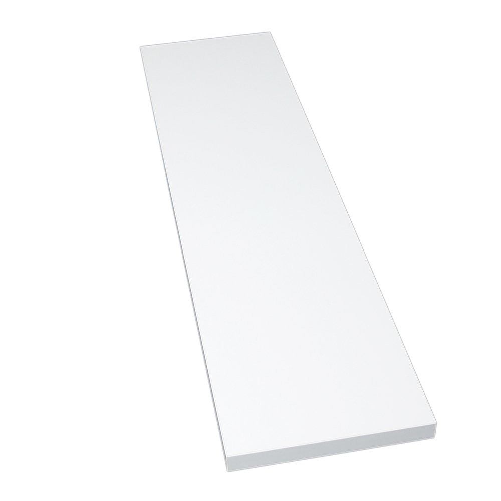 M/öbelbauplatte Regalbrett Glanzwei/ß 800 x 500 x 22 mm 4 Seiten umleimt