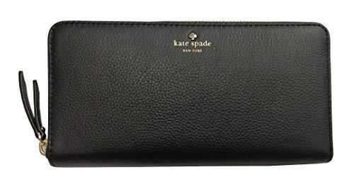Kate Spade New York Neda Larcnmont Avenue Pebbled Leather Wallet Zip Around Black, Medium