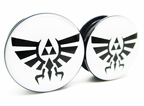 Pierced Republic Zelda Wingcrest Triforce Ear Plugs - Acrylic Screw-On - 10 Sizes - Brand NewPair (1