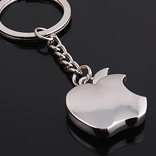 Metal Gift Souvenir Keychain - Apple Logo - Zinc (Apple Logo Key)