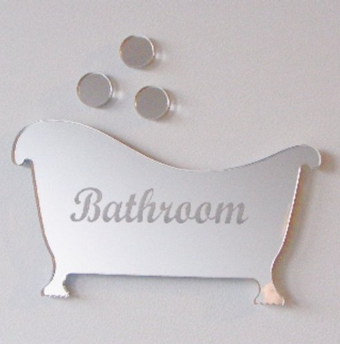 Super Cool Creations Restroom Sign - Bath & Bubbles Mirror 4inch x -