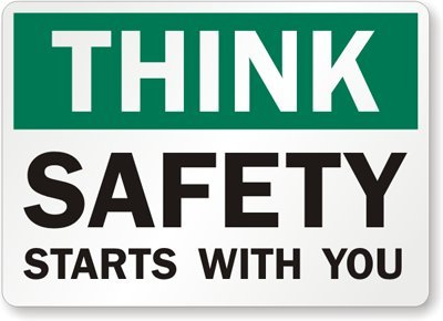 Amazoncom Think Safety Starts With You Engineer Grade Reflective