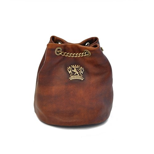 Pratesi Pienza bolsa de cuero - B159 Bruce (Violeta) Marrón