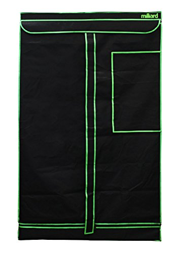"41ppKZBdjcL - MILLIARD Horticulture D-Door 48"" x 24"" x 60"" 100% Reflective Mylar Hydroponic Grow Tent with Window, Great for Indoor Planting and Early Seedling Starters"